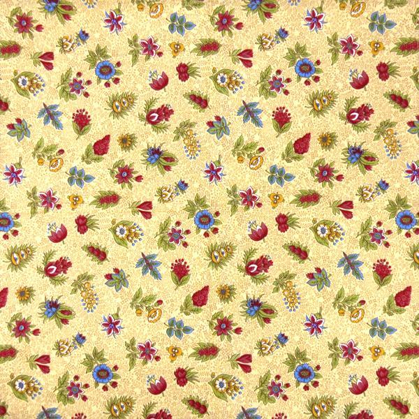 Serviette De Table Tissu Proven Al Beige Motif Floral